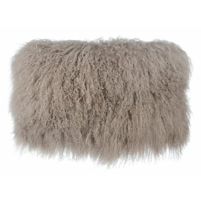 Swanage Tibetan Sheep Lumbar Pillow Color: Brown
