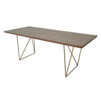 Johnsie Tobacco and Antique Brass Dining Table