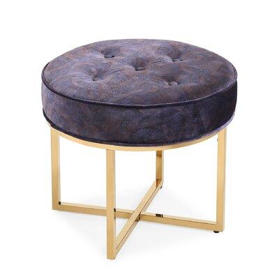 Remigio Velvet Ottoman Upholstery: Purple