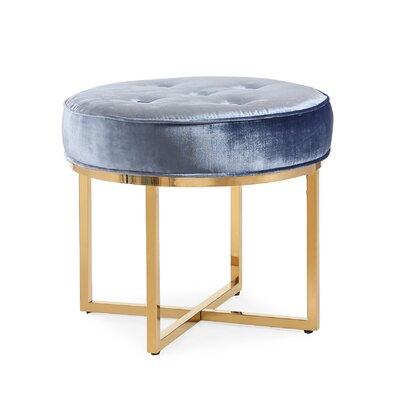 Remigio Velvet Ottoman Upholstery: Blue