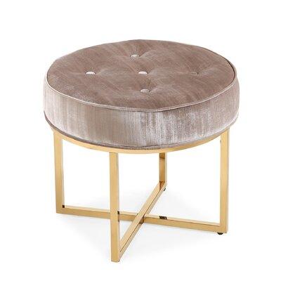 Remigio Velvet Ottoman Upholstery: Gray