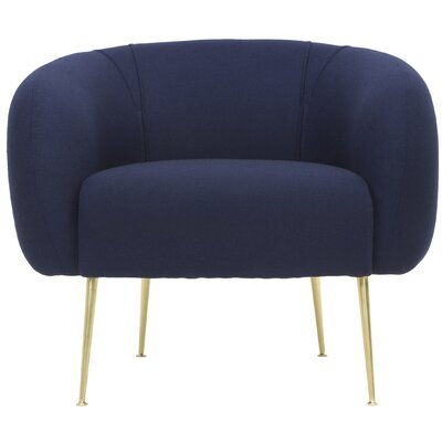 Marcia Upholstered Armchair Color: Navy
