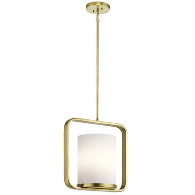 Padmore 1-Light Mini Pendant Finish: Natural Brass