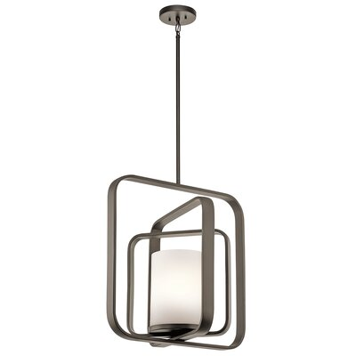 Cheetham 1-Light Foyer Pendant Finish: Olde Bronze