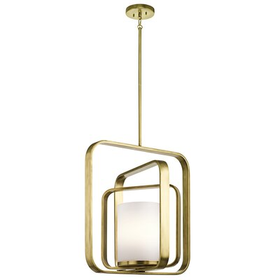 Cheetham 1-Light Foyer Pendant Finish: Natural Brass