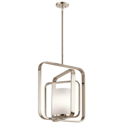 Cheetham 1-Light Foyer Pendant Finish: Polished Nickel
