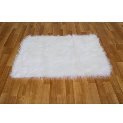 Chantay Rectangle White Area Rug Rug Size: 3'5