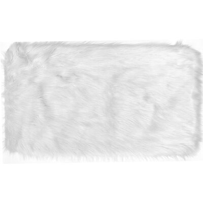 Chantay Faux Fur Ivory Area Rug