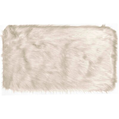 Chantay Faux Fur Light Pink Area Rug