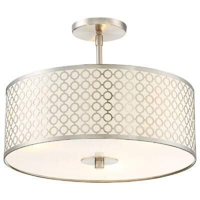 Fayme 3-Light Semi-Flush Mount