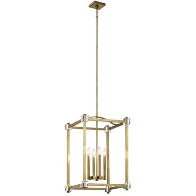 Cargin 4-Light Foyer Pendant Size: 26 H x 17 W