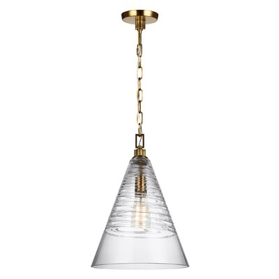Carnaff 1-Light Mini Pendant Finish: Burnished Brass