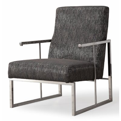 Davi Metallic Armchair Upholstery: Black