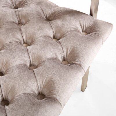 Attwater Velvet Arm Chair Upholstery: Gray, Finish: Silver