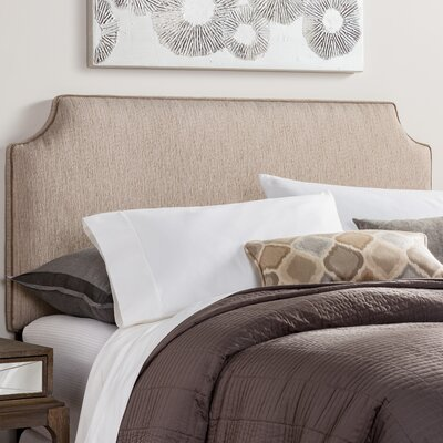 Rosalie Velvet Corded Upholstered Headboard Size: King