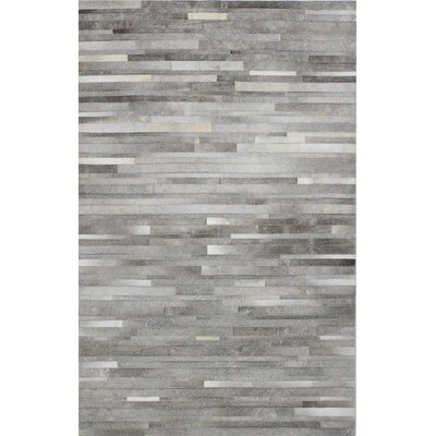 Berdina Hand Woven Gray/Silver Area Rug Rug Size: Rectangle 10 x 14