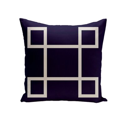 Harford Geometric Decorative Outdoor Pillow Size: 20 H x 20 W x 1 D, Color: Navy