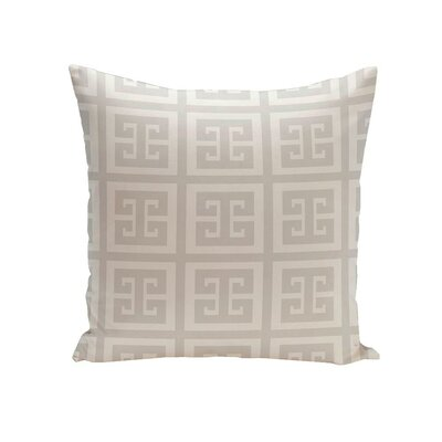 Croydon Geometric Decorative Outdoor Pillow Color: Paloma, Size: 16 H x 16 W x 1 D