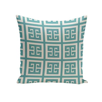 Croydon Geometric Decorative Outdoor Pillow Color: Spring Navy, Size: 16 H x 16 W x 1 D