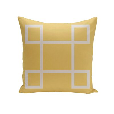 Harford Geometric Outdoor Throw pillow Color: Lemon, Size: 18 H x 18 W x 1 D