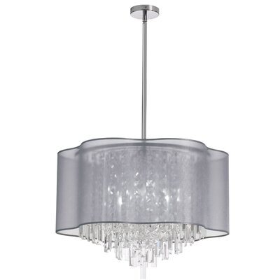 Francina 8-Light Crystal Chandelier Shade Color: Silver