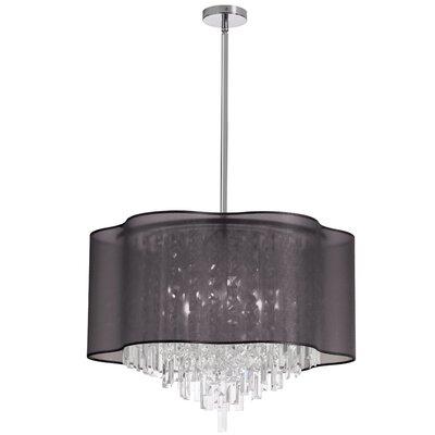 Francina 8-Light Crystal Chandelier Shade Color: Black