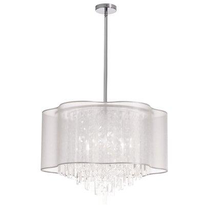 Francina 8-Light Crystal Chandelier Shade Color: White