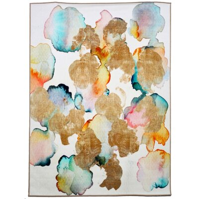 Homerton Rose Gold Garden Area Rug