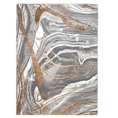 Jepson Marble Copper Area Rug