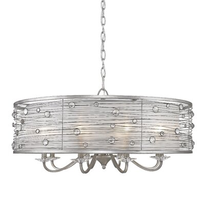 Hermione 8-Light Drum Chandelier Finish: Peruvian Silver