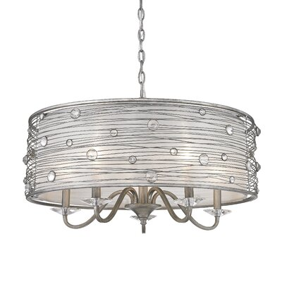 Hermione 5-Light Drum Chandelier Finish: Peruvian Silver