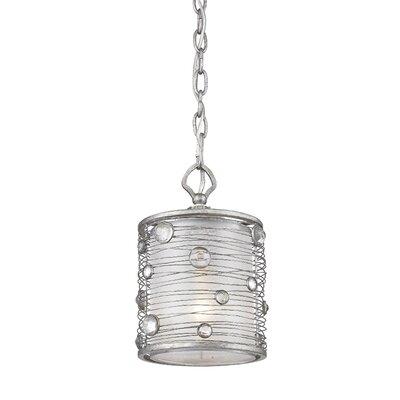 Hermione 1-Light Mini Pendant Finish: Peruvian Silver