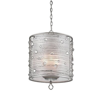 Hermione 3-Light Drum Pendant Finish: Silver
