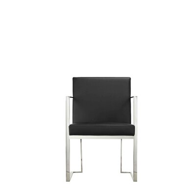Espinoza Upholstered Arm Chair Upholstery: Black