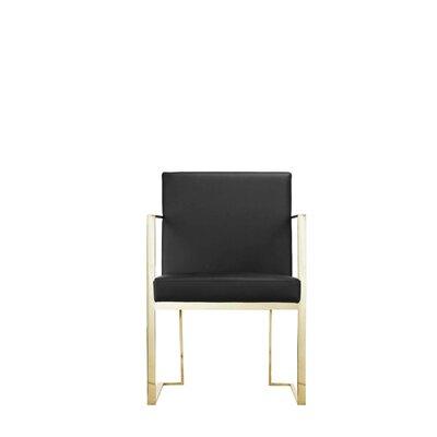 Dreyfuss Arm Chair Upholstery: Black