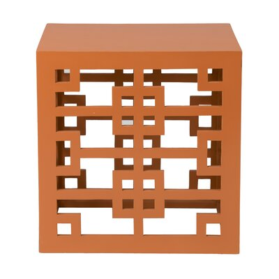 Deverell Rectangular End Table Finish: Orange