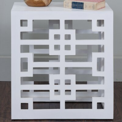 Hawkins End Table Finish: White