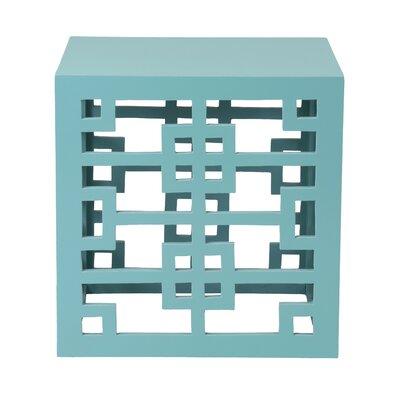 Deverell Rectangular End Table Finish: Aqua