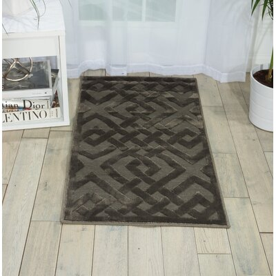 Beaconsfield Silver/Gray Area Rug Rug Size: 22 x 39