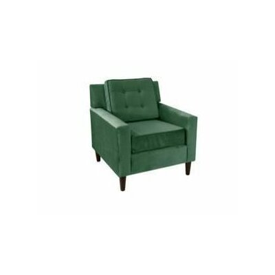 Essex Mystere Arm Chair Fabric: Velvet Emerald
