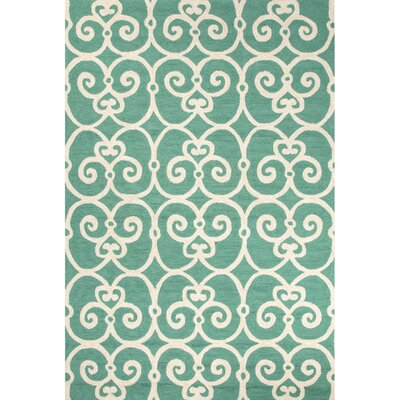 Northwood Blue/Ivory Geometric Indoor/Outdoor Area Rug Rug Size: 36 x 56