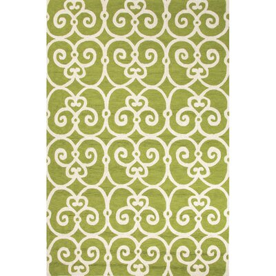 Northwood Green/Ivory Geometric Indoor/Outdoor Area Rug Rug Size: 36 x 56