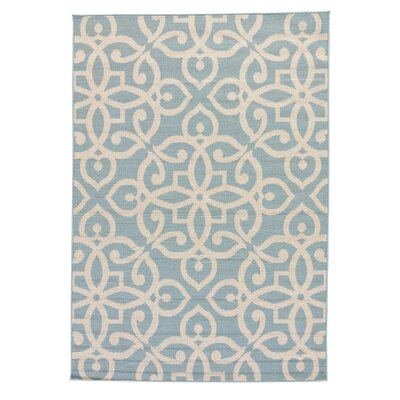 Charlena Blue/Taupe Indoor/Outdoor Area Rug