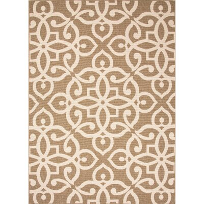 Charlena Brown/Taupe Indoor/Outdoor Area Rug Rug Size: Rectangle 2 x 37