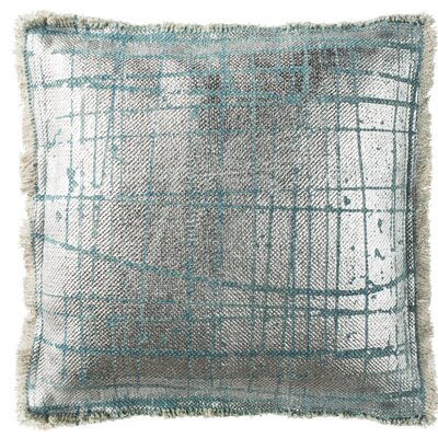 Coppola Metallic Grid Cotton Throw Pillow