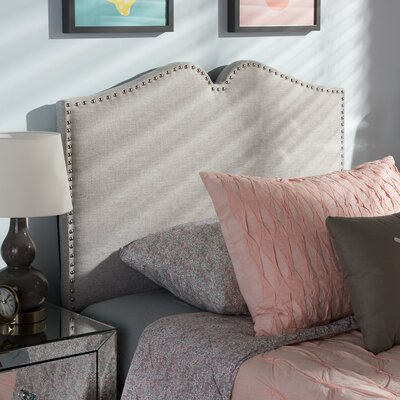 Jarrow Upholstered Panel Headboard Size: Twin, Upholstery: Grayish Beige