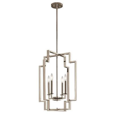 Goffe 4-Light Foyer Pendant Size: 25 H x 18 W x 18 D