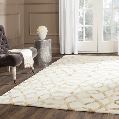 Owen Ivory/Camel Area Rug Rug Size: Rectangle 5 x 8