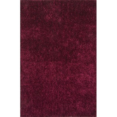Woodside Purple Solid Area Rug Rug Size: 36 x 56