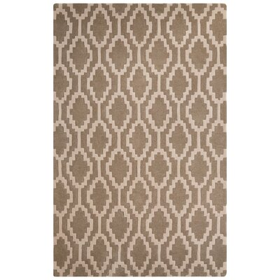 Brixton Hand-Tufted Beige/Ivory Area Rug Rug Size: Rectangle 5 x 8